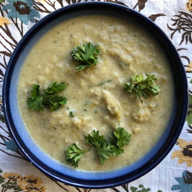 Dairy Free Cream of Asparagus Soup