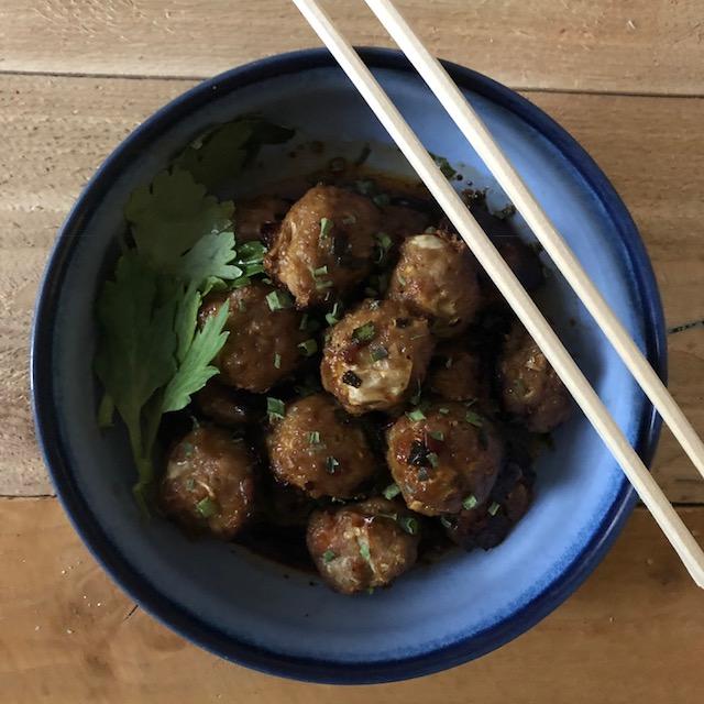 Paleo Potsticker Meatballs