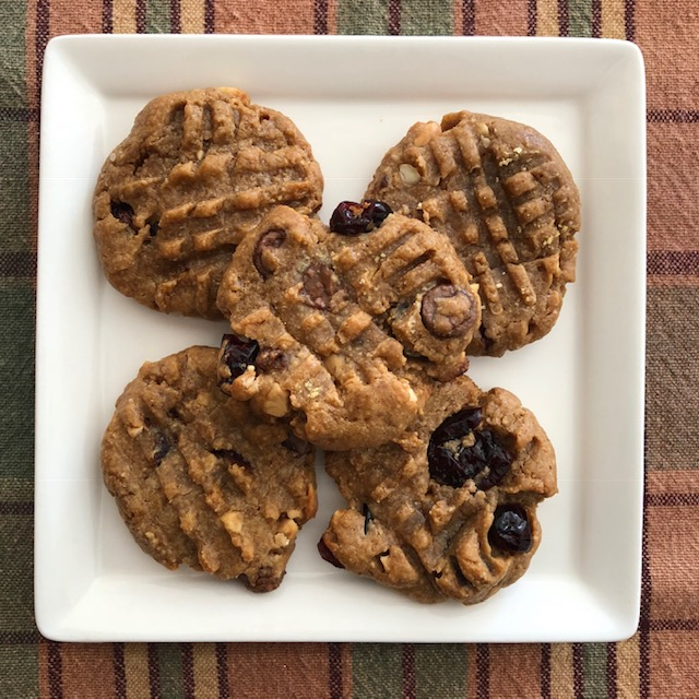 Flourless Trail Mix Cookies
