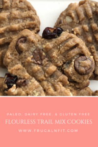 Pinterest image trail mix cookies