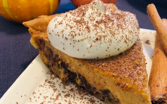 "Dairy & Gluten Free Pumpkin Chocolate ""Cheese""cake"
