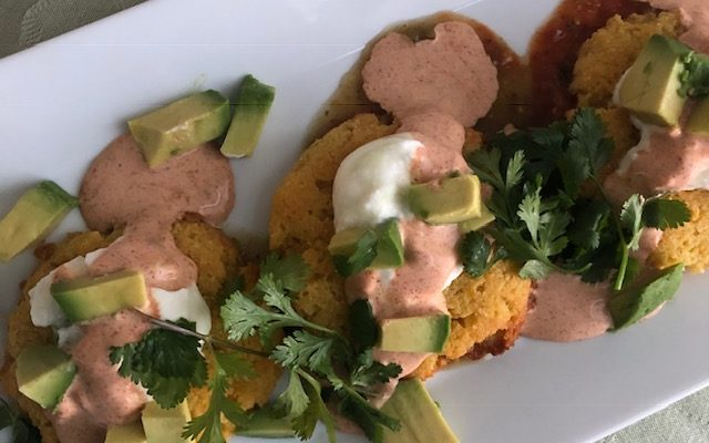 Southwestern Corn Cakes and Apple Sangria