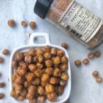 Chickpeas with seasoning salt