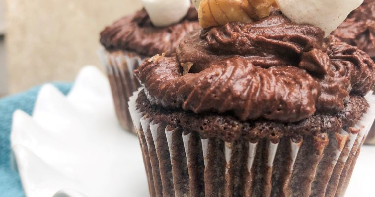 Gluten and Dairy Free Rocky Road Cupcakes