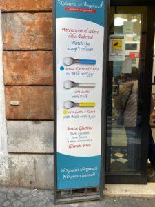gluten free in Rome gelato